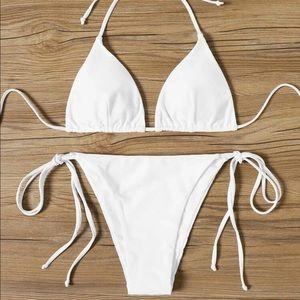 White bikini set